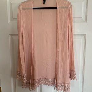 Beautiful pink lace cardigan